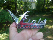 "1954 Dodge V Eight Powerflite Script Emblem Badge 6 1/2"" 1547781-10065"