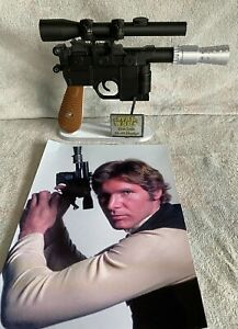 1:1 Scale - 3D Printed Han Solo DL-44 Blaster + Stand Cosplay/Prop/Collectable
