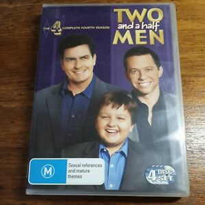 Two and a Half Men Complete Fourth Season 4 DVD R4 LIKE NEW FREE POST
