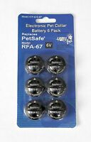 6 Pack PetSafe ® Compatible RFA-67 & RFA-67D-11 Replacement Battery