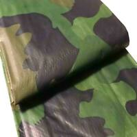 8 x 10' Camo Tarp Water Resistant 5 Mil Cover - Trailer Car Boat Camping Shelter