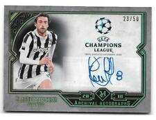 CLAUDIO MARCHISIO 2017-18 TOPPS MUSEUM COLLECTION ARCHIVAL AUTOGRAPHS GOLD #/50