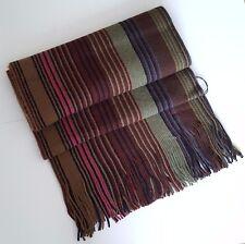 Paul Smith Wool Scarf Brown Multi Stripes