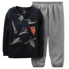 Carter's Niño Pijama Set 2T Ls Camiseta y Pantalones, para Su Espacio Adventurer