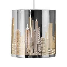 Modern New York Skyline Silver Chrome Ceiling Pendant Light Lamp Shade Lampshade