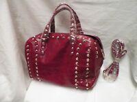 Bag Inc Alexa Studded Calfskin Leather Bag Black With Gold Studs  8a29d20b3c657