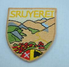 Swiss Suisse Alpes brodé repasser à coudre chiffon patch badge applique C