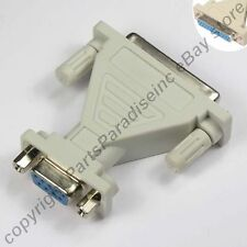 DB25~DB9pin Female~F Jack cable/cord/wire/port/modem Adapter RS232/C Serial {TN