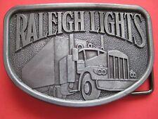 man's belt buckle gift for trucker truck Raleigh Lights Cigarette advertising