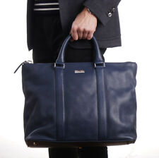 NWT $1695 CANALI EXCLUSIVE 1934 Navy Blue Leather Overnight Weekend Bag