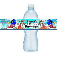 12 Finding Dory Birthday Party or Baby Shower Water Bottle Stickers Labels Nemo