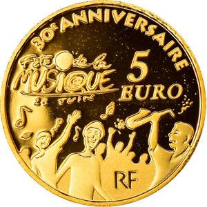 [#884920] France, Europa, 5 Euro, 2011, Paris, Proof, FDC, Or, Gadoury:EU 488, K