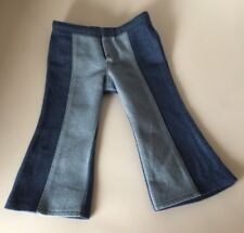 """American Girl Doll Julie's Classic outfit bell bottom 2 tone jeans fits 18"""" doll"""
