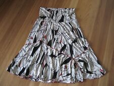 LADIES CUTE WHITE & BLACK TULIP POLYESTER SKIRT DRESS BY UNDERCOVER SIZE 18 NWT