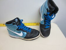 EUC! 2007 DS Black NIKE Zoom DUNK Men's 9.5 HIGH PREMIUM BLUE-BB-317892-411 Mint