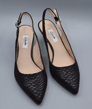 """falda acquifera BELLE"" Clark's Women's/Donna Nero Scarpe in pelle di serpente TAGLIA 5.5 D."