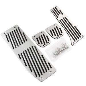 Car Aluminum Footrest Rest Pedals Pad Set For BMW X1 E30 E36 E46 E90 E87 E93