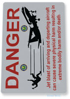 Danger Jet Blast Aviation Sign, Airport Warning Caution Tin Sign B558