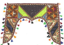 Indian Vintage Window Valance Topper Wall Hanging Embroidered Tapestry Toran