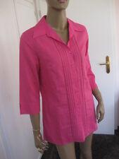 Peter Hahn exclusive Bluse 40 pink mit Leinen