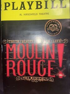 moulin rouge re opening night broadway musical playbill Only No Flyer Sept 2021