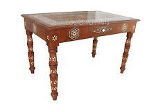 Handmade Mother Of Pearl Inlay Teak Wood Table Handicraft Furniture Table