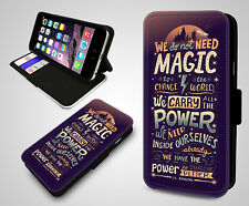 Harry Potter Always Magic Quotes Hogwarts Leather Wallet Flip Phone Case Cover