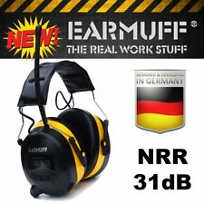 31dB WIRELESS YELLOW HEADPHONES Digital AM FM Radio MP3 iPod Protection Ear Muff