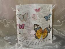 Deko Windlicht Schmetterlinge Papillon Vintage Tischlicht Unikat Geschenkidee