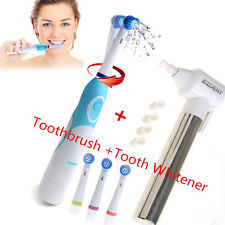 SS Electric Toothbrush 4 Brush Heads+1pc Dental Tooth Whitener Teeth Burnish Top