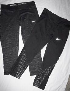 Lot of 2 NIKE Dri-Fit Womens Size Medium Running Capri Pants