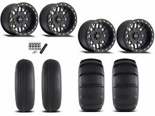 "Method 406 Beadlock 14"" Wheels Rims Black 27"" EFX Sand Slinger Tires Turbo 1000"