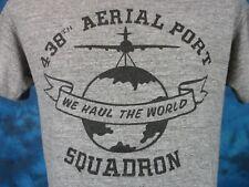 vintage 80s RAYON TRI-BLEND USAF 38TH AERIAL PORT SQUADRON T-Shirt S/M air force