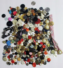 Lot of 1 lb Vintage Sewing Buttons - Pre 1960's Mixed, Metal, Pearl and Plastic