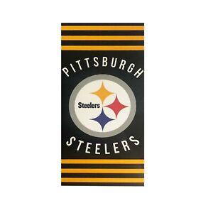 "New Football Team Pittsburgh Steelers Beach Towel Bath 30'' x 60"" Licensed"