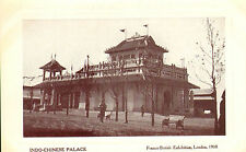 indo - chinese palace postcard-  franco - british exhibition london 1908