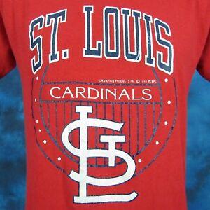 vintage 80s ST. LOUIS CARDINALS CHAMPION PAPER THIN T-Shirt SMALL mlb baseball