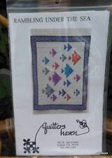 """Vintage Quilt Pattern """"Rambling Under the Sea"""" Complete and Unused Fish"""