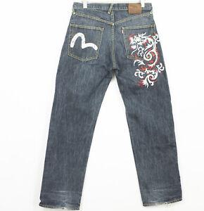 Evisu LOT2000 Jeans Straight Regular Mens Size W34 L33