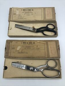 Vintage J. Wiss Pinking Shears Scissors #1970408 & #1965443 TWO PAIR