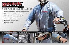 Risk Racing Jacket Clear Waterproof Rain Coat Motocross BMX MTB Medium