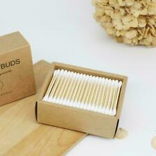 200PCS Bamboo Cotton Swabs Cotton Buds Wood Sticks Ears Nose Cleaning Fo B6H3