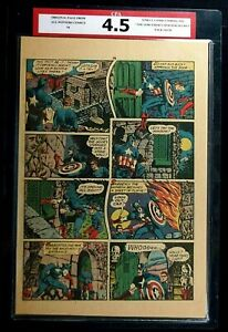 All Winners Comics #4 CPA 4.5 SINGLE PAGE #19/20 Captain America Timely Comics