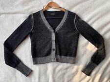 DIESEL Women's Grey Crop Cardigan. Size Small. Wool blend. Good Condition.
