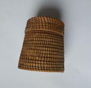 Tribal Art fine  small basket native american