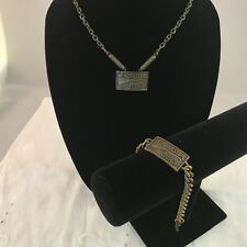 Vintage Winchester Repeating Arms Necklace and Bracelet Set New Old Stock