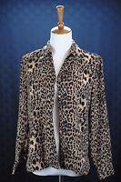 Style & Co Women's Size 4 Leopard Print Button Down Shirt Blouse Long Sleeve