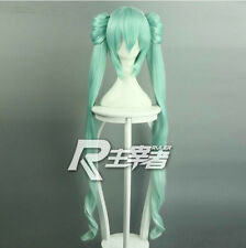 VOCALOID Hatsune Miku Mid-Autumn Festival Ver Cosplay Wig +2 Clip on Ponytail