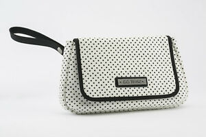 GG Rose by Rock Rebel Perforated Star Clutch White and Black