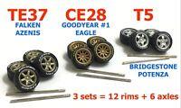1:64 mix rims fit Hot Wheels Honda accessories custom diecast - 3 sets - R331